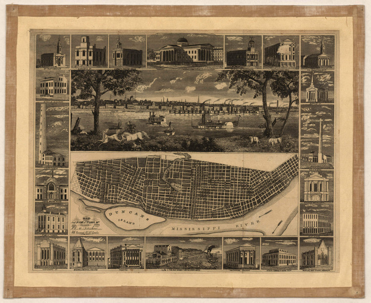 Historic Map - St. Louis, MO - 1848