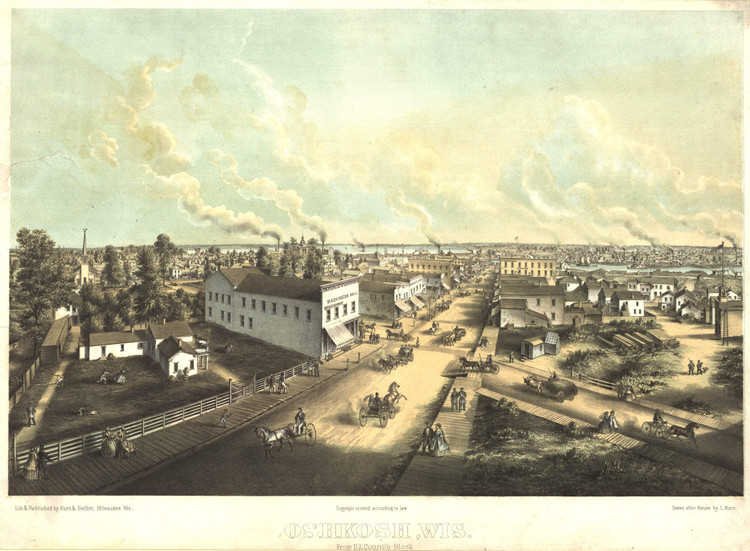 Historic Map - Oshkosh, WI - 1850