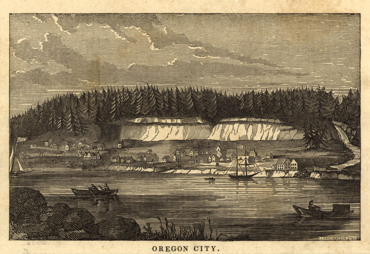 Historic Map - Oregon City, OR - 1850's