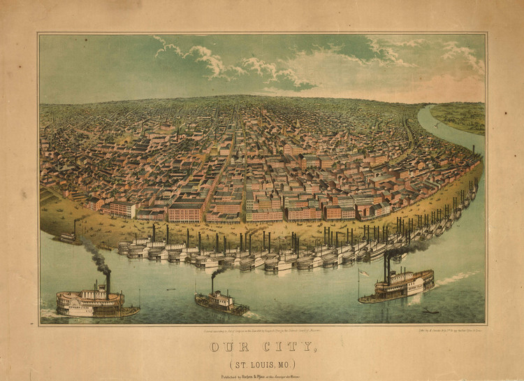 Historic Map - St. Louis, MO - 1859