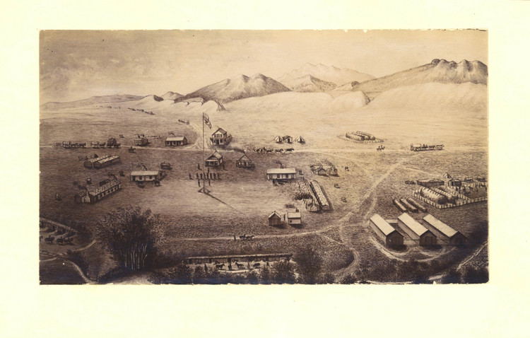 Historic Map - Fort Collins, CO - 1865