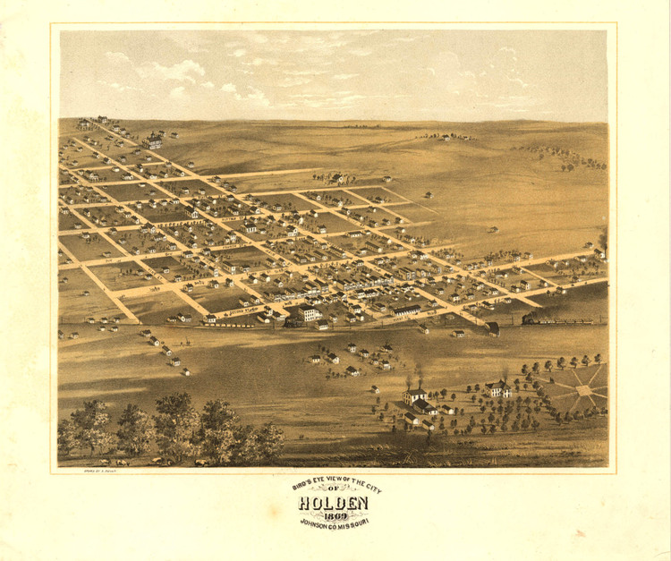 Historic Map - Holden, MO - 1869