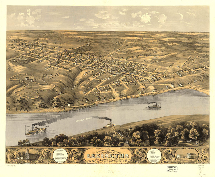 Historic Map - Lexington, MO - 1869
