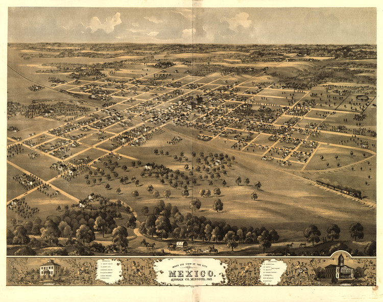 Historic Map - Mexico, MO - 1869
