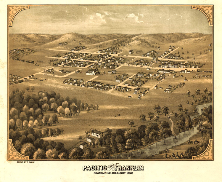 Historic Map - Pacific, MO - 1869