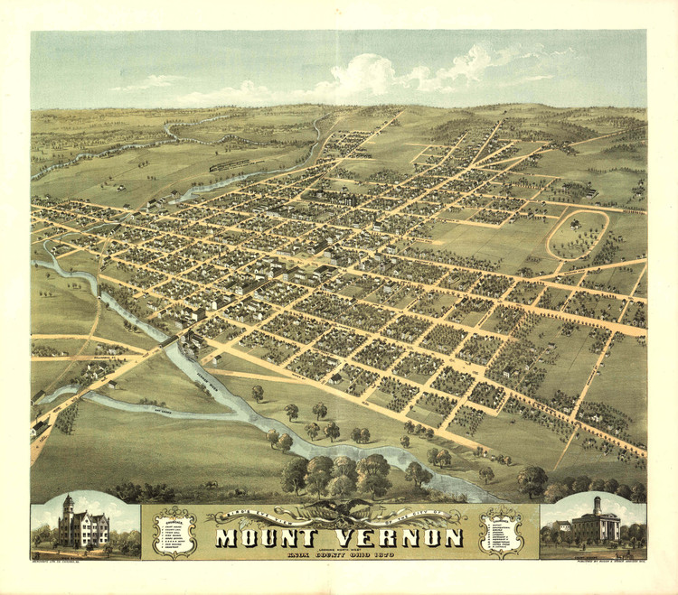 Historic Map - Mount Vernon, OH - 1870