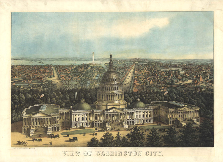 Historic Map - Washington, DC - 1871