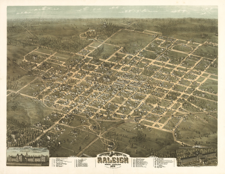 Historic Map - Raleigh, NC - 1872