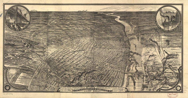 Historic Map - St. Louis, MO - 1876