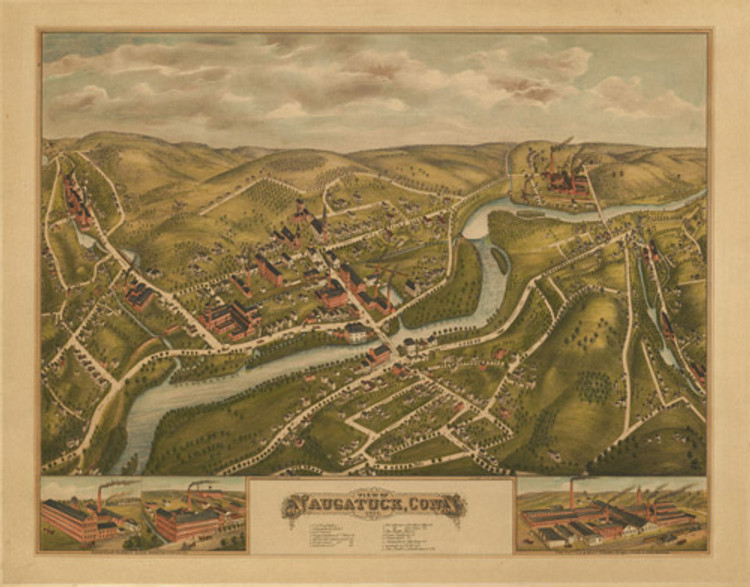 Historic Map - Naugatuck, CT - 1877