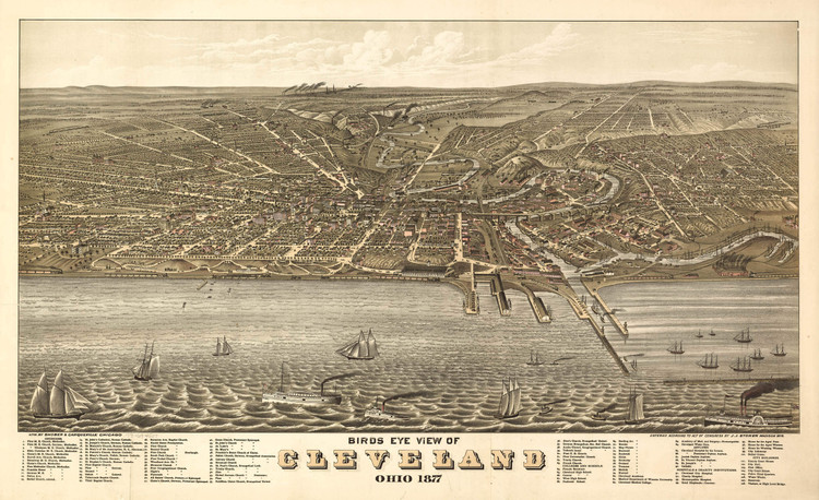 Historic Map - Cleveland, OH - 1877