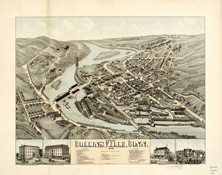 Historic Map - Collinsville, CT - 1878