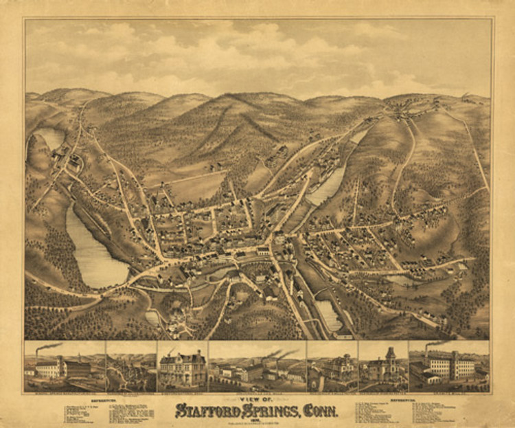 Historic Map - Stafford Springs, CT - 1878
