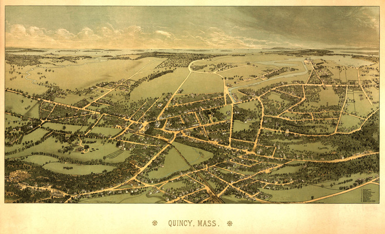 Historic Map - Quincy, MA - 1878