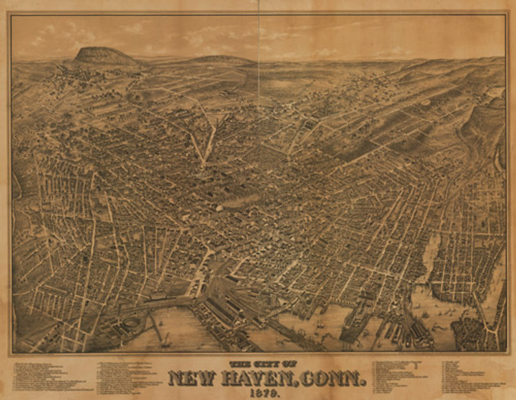 Historic Map - New Haven, CT - 1879