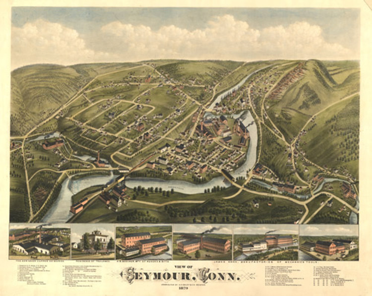 Historic Map - Seymour, CT - 1879