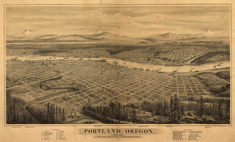 Historic Map - Portland, OR - 1879