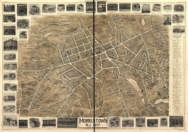 Historic Map - Morristown, NJ - 1899