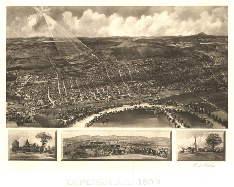 Historic Map - Concord, NH - 1899