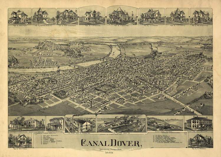 Historic Map - Dover, OH - 1899