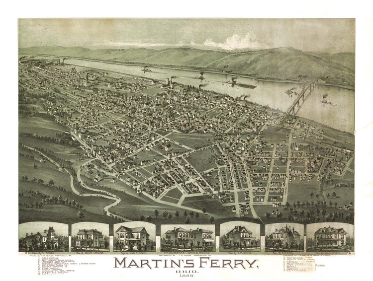 Historic Map - Martin's Ferry, OH - 1899
