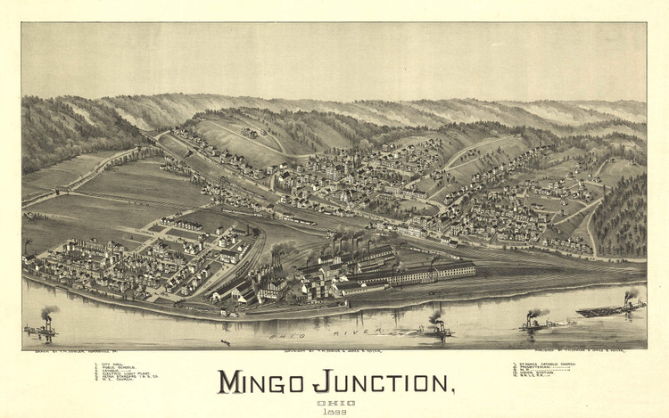 Historic Map - Mingo Junction, OH - 1899
