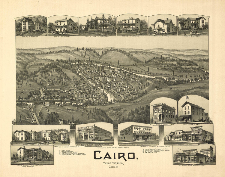 Historic Map - Cairo, WV - 1899