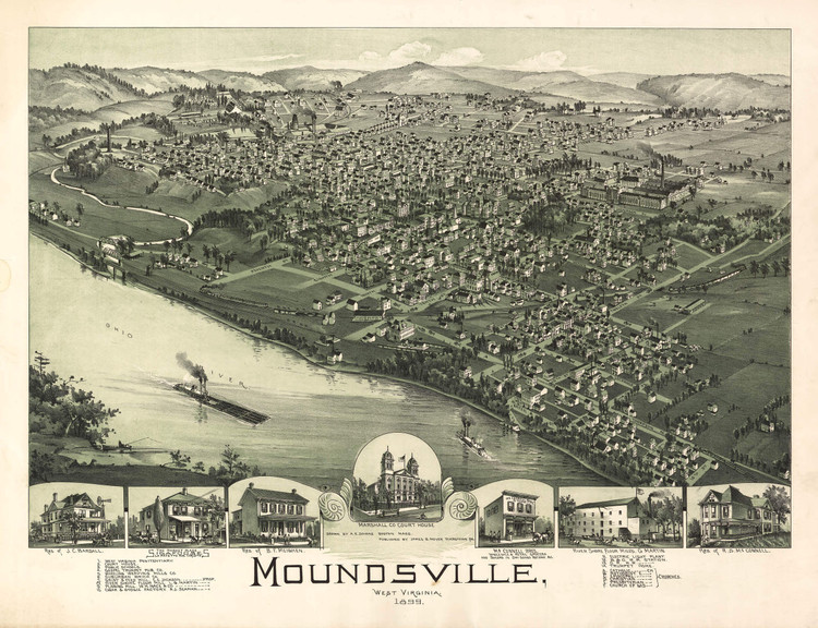 Historic Map - Moundsville, WV - 1899