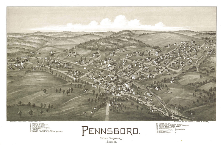 Historic Map - Pennsboro, WV - 1899