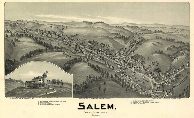 Historic Map - Salem, WV - 1899