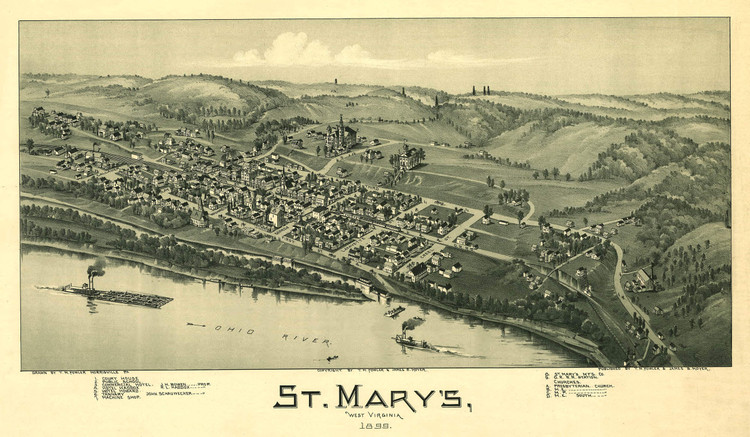 Historic Map - St. Mary's, WV - 1899