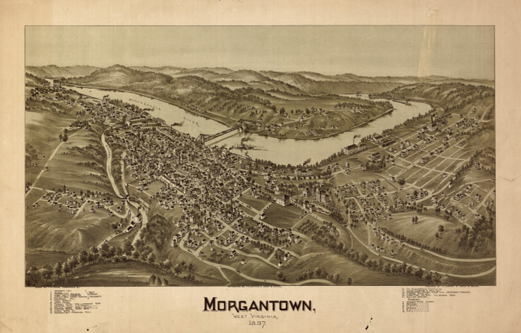 Historic Map - Morgantown, WV - 1897