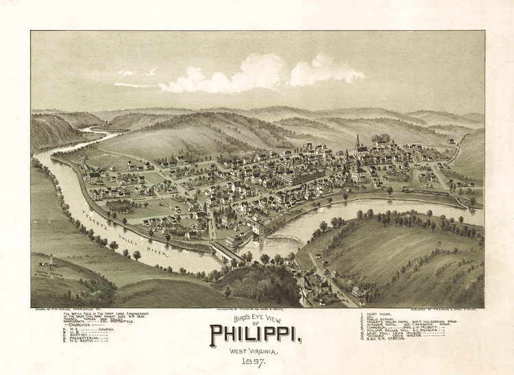 Historic Map - Philippi, WV - 1897