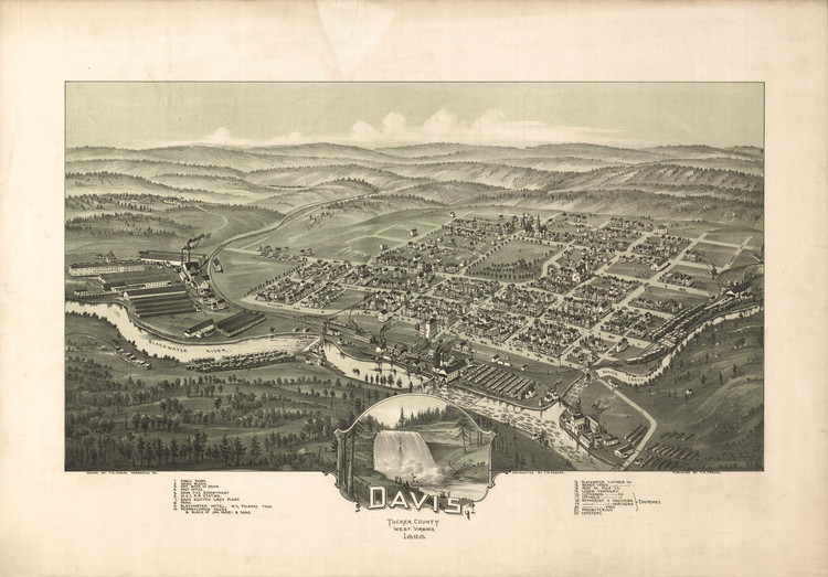 Historic Map - Davis, WV - 1898
