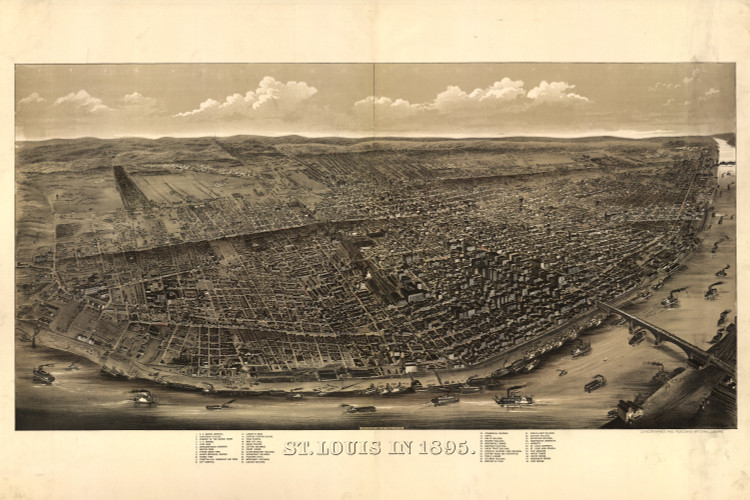 Historic Map - St. Louis, MO - 1895