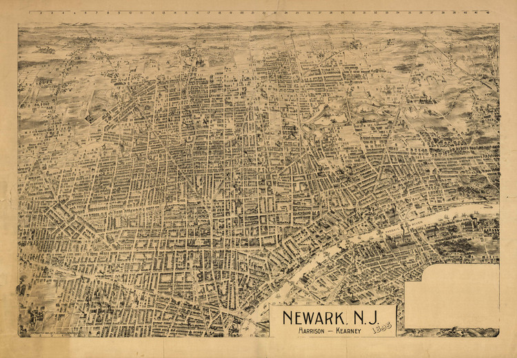 Historic Map - Newark, NJ - 1895