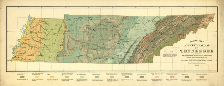Historic Map - Tennessee - 1896