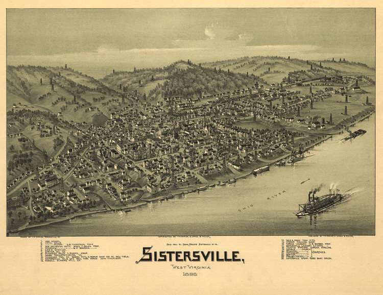 Historic Map - Sistersville, WV - 1896