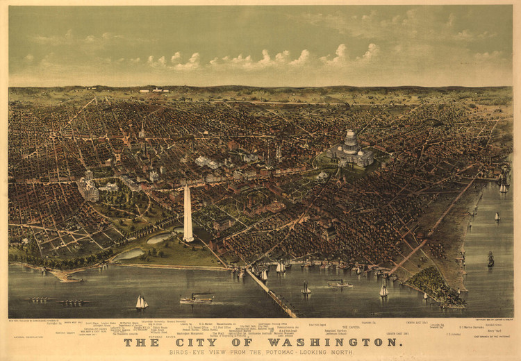 Historic Map – Washington, DC - 1892