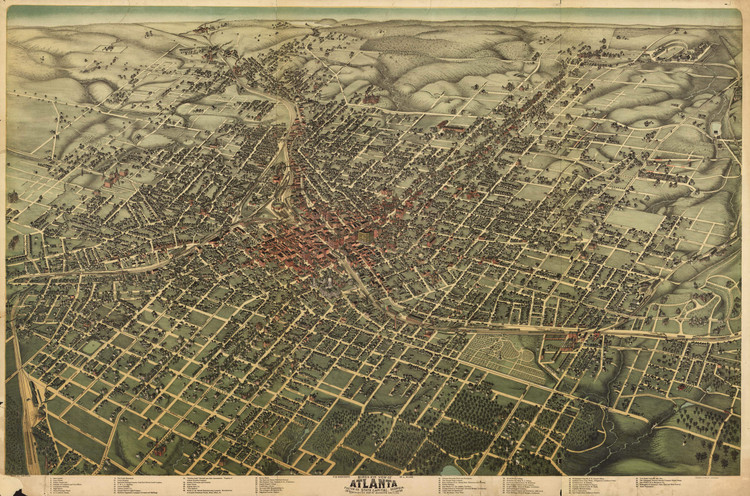 Historic Map - Atlanta, GA - 1892