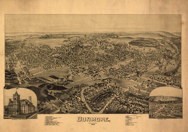 Historic Map - Dunmore, PA - 1892