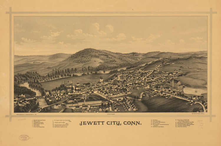Historic Map - Jewett City, CT - 1889