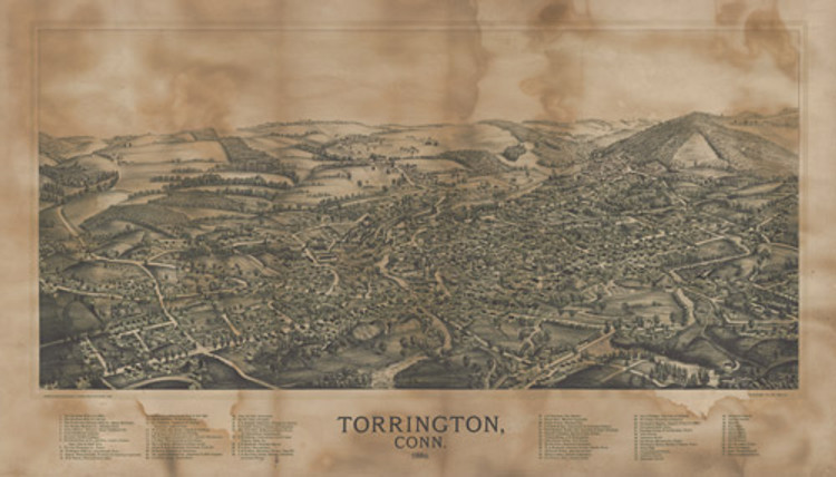 Historic Map - Torrington, CT - 1889