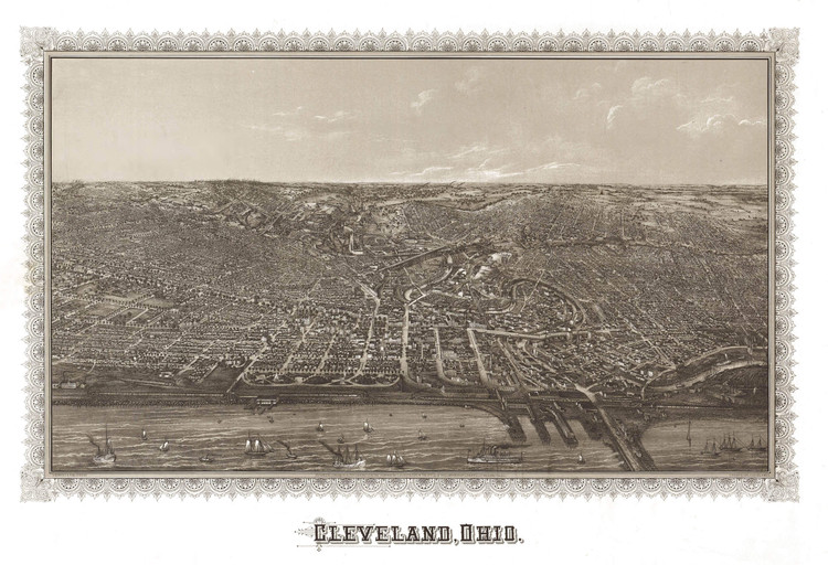 Historic Map - Cleveland, OH - 1887