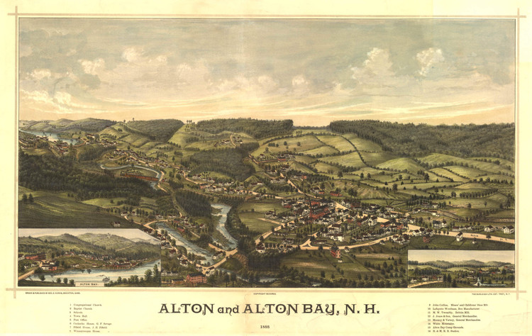 Historic Map - Alton, NH - 1888