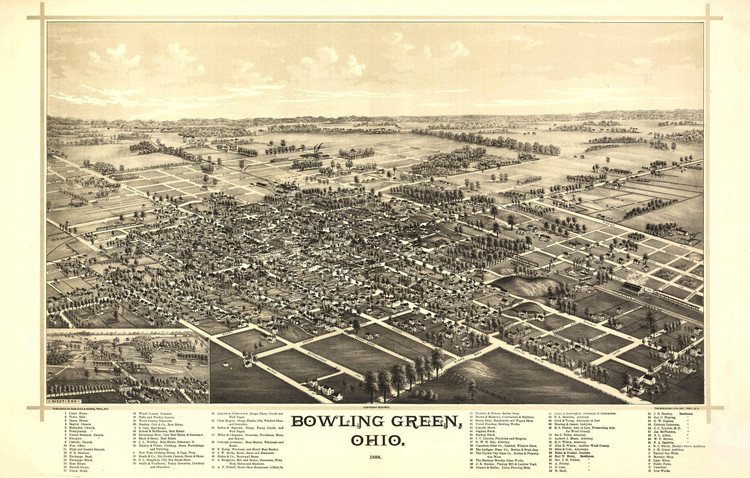 Historic Map - Bowling Green, OH - 1888