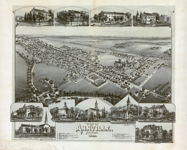 Historic Map - Annville, PA - 1888