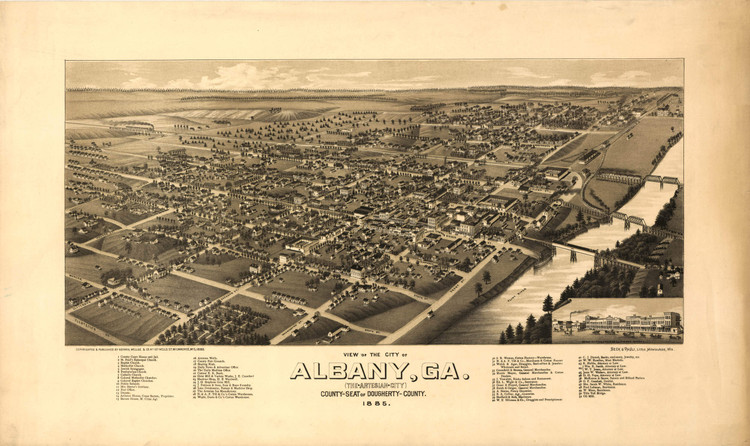 Historic Map - Albany, GA - 1885