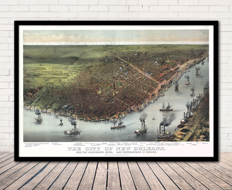 Historic Map - New Orleans, LA - 1885