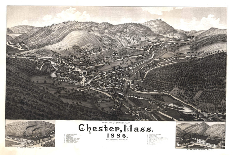 Historic Map - Chester, MA - 1885